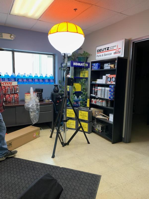 Balloon light at dealer